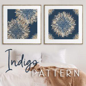 June 2021 - Indigo Pattern